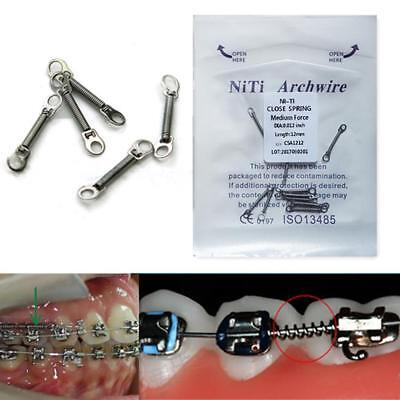"10pcs 1Pack Dental Orthodontic Closed Coil Spring 0.012"" 6/9/12mm Niti Alloy NEW"
