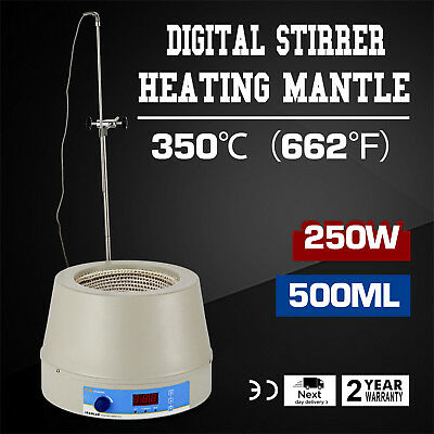 Electric Digital Display Magnetic Stirring Heating Mantle 500 ML 250W