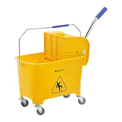 Mop Bucket Wringer Cleaning Trolley Cleaning Mop Holder Hotel Cleaning 20 L