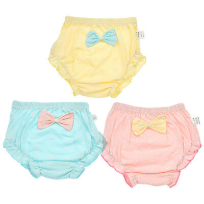 Newborn Baby Girls Underwear Cartoon Bow-tie Cotton Lovely Panties Cute Children