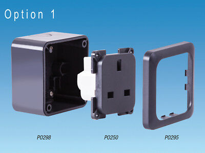 PO295 C-Line Single Faceplate Surface Mount Only Socket Fascia