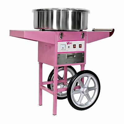 Candy Floss Machine Cotton Candy Maker With Wagon Cart 1200W Pink New Commercial