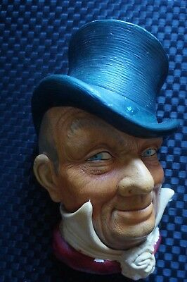 Collectable Vintage Mr Micawber Bossons Legend Chalkware hanging. Good condition