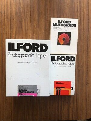 Ilford Multigrade Set photographic Paper / Filter Set/ Semi Matt/ Glossy