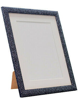 Glitz Charcoal Picture Photo Frame with White, Black and other Coloured Mounts