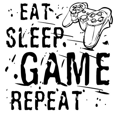 Ps4 Eat Sleep Game Boys Gaming Room Vinyl Wall Art Sticker