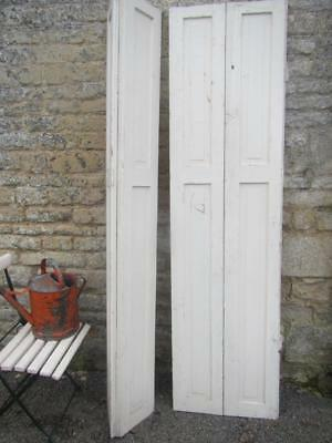 VINTAGE WOODEN FRENCH  WINDOW SHUTTERS Bi Folding 203-108cm PAIR