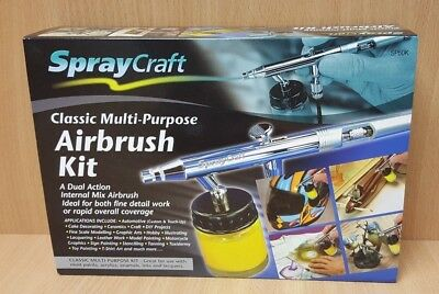 SprayCraft SP50K Dual Action Classic Multi-Purpose Airbrush Kit OL 81941