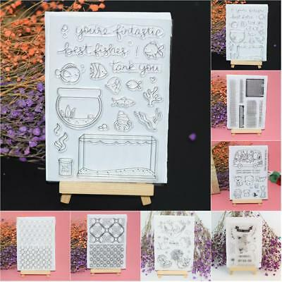 PVC Scrapbook Silicone Stamp Handmade DIY Album Transparent Seal Embossing