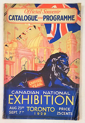 1929 Canadian National Exhibition Toronto- Program    A1