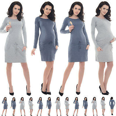 Purpless Maternity Pregnancy and Nursing Casual Dress Top with Pockets B6204 c22ab9e833c