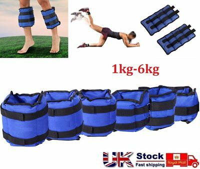 Resistance Leg Ankle Wrist Weights Running Fitness Strength Training 1KG-6KG UK