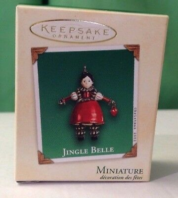 2002 Jingle Belle, Hallmark Miniature ornament, New in Box