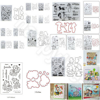Carbon Steel Cutting Embossing Die Scrapbook Embossed Mold + Stamp Seal DIY Set