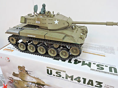Bulldog M41A3 US Military Smoking RC Radio Remote Control Battle Tank Heng Long