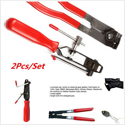 Joint Clamp Banding Install 2 pcs Ear Type Boot Clamp Pliers Metal Hand Tool Kit