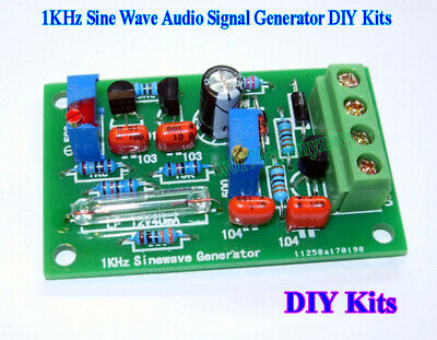 DC 9V~12V 1KHz Sine Wave Audio Signal Generator Signal Source DIY Kit