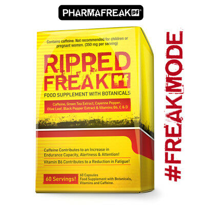 Ripped Freak - Pre Workout Fat Burner Pills - 60 Capsules - Free Delivery