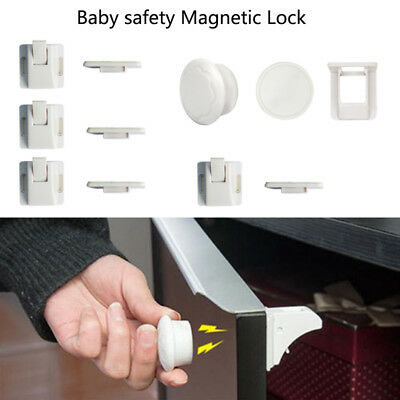Magnetic Safety Invisible Cupboard Lock Baby Child Pet Proof Drawer Security Kit