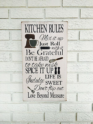 PPKR0793 LILIA/'S KITCHEN RULES Chic Sign Funny Kitchen Decor Birthday Gift