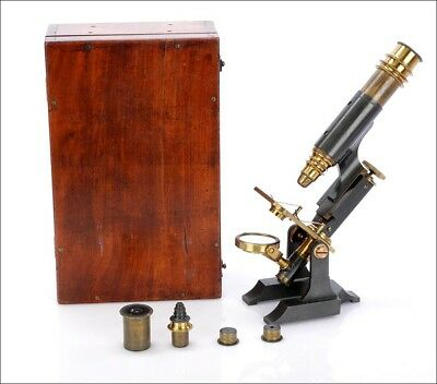 Antique English Compound Microscope. England, Circa 1880