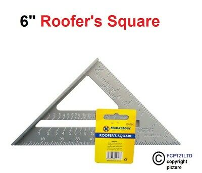 """6"""" Aluminium Alloy Roofing Rafter Speed Square Triangle Angle Guide Roof"""