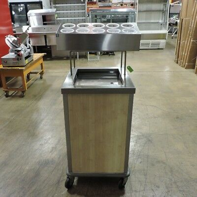 Commercial Stainless Steel Flatware and Tray Dispenser Cart