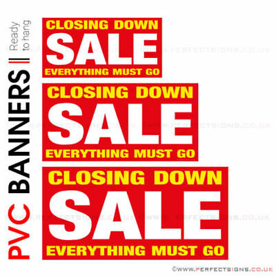 Closing Down Sale Pvc Banner Printing Advertising Shop Window Signs (Banpn00226)