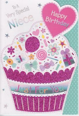 Glittery cut out birthday greeting card to a very special niece glittery cut out birthday greeting card to a very special niece happy birthday m4hsunfo