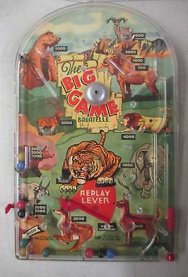 VINTAGE MARX TOYS THE BIG GAME BAGATELLE TABLETOP PINBALL  SAFARI ANIMAL Flipper