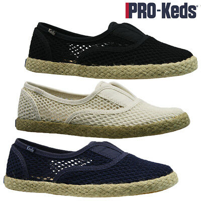 5d8ca75041 LADIES KEDS SUMMER Slip On Casual Canvas Pumps Shoes Plimsolls Trainers  Size New
