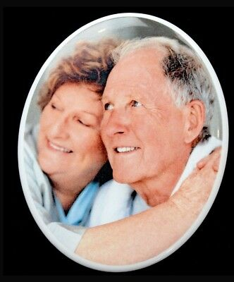 Memorial Oval Photo Grave Plaque-8cmx10cm That never fades printed on Ceramic