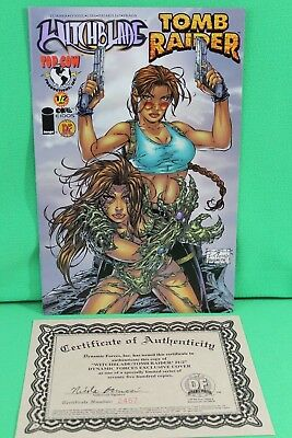 Witchblade Tomb Raider #1/2 Dynamic Forces Variant Top Cow Image Comic Comics VF