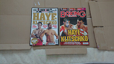 BOXING News & BOXING MONTHLY MAGAZINES - KLITSCHKO VS HAYE - COLLECTORS EDITION