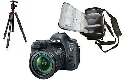 NEW Canon 6D Mark II + 24-105mm IS STM + KamKorda Bag + Tripod - UK NEXT DAY DEL