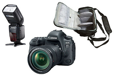 NEW Canon 6D Mark II + 24-105mm IS STM + KamKorda Bag + Flash - UK NEXT DAY DEL