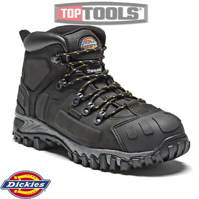 Dickies FD23310 Medway Safety Boots Thinsulate Steel Toe Leather Black Size LOT