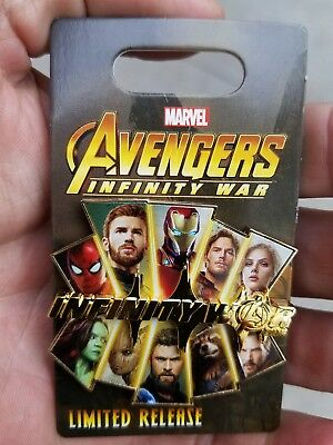 New Disney Avengers Infinity War opening day pin Disney Pin