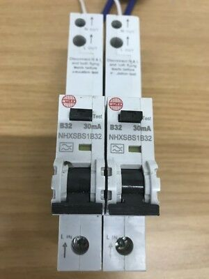 wylex Rcbo New type B 32amp B32 Shorter cables Used condition