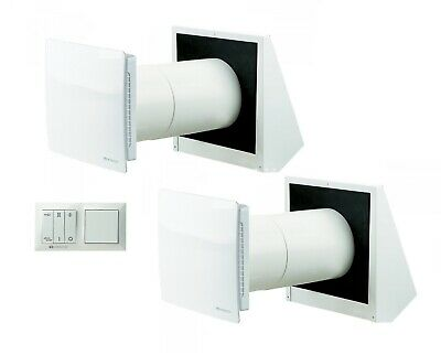 Decentralized Living Air Ventilation Saver Set TF ra1-50 + r1-50 Heat Recovery