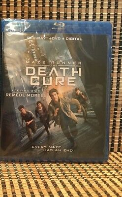 Maze Runner 3: The Death Cure (2-Disc Blu-ray/DVD, 2018)James Dashner