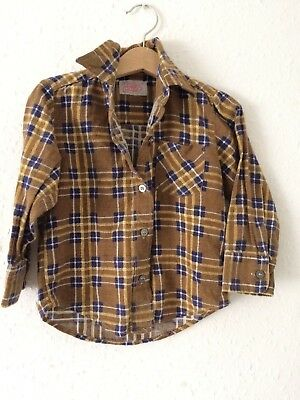 Vintage Kids 80s 90s Rodeo Cowgirl Cowboy Western Flannel Novelty Shirt 1 2 Y