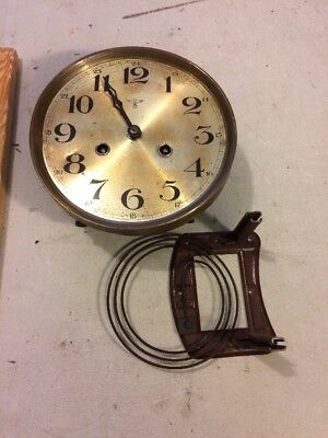 Antique German R/a Regulator Wall Clock  Fms Movement  Mounting Plate, Hands