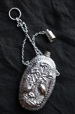 Gorham Sterling Silver Aesthetic Movement Scent Bottle Perfume Flask
