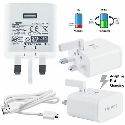Genuine Fast Charger Plug & Cable For Samsung Galaxy S7 S6 Edge+ Plus Note 4 5
