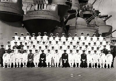 WW2  Photo WWII Japanese Emperor Hirohito on IJN Musashi   World War Two / 1602