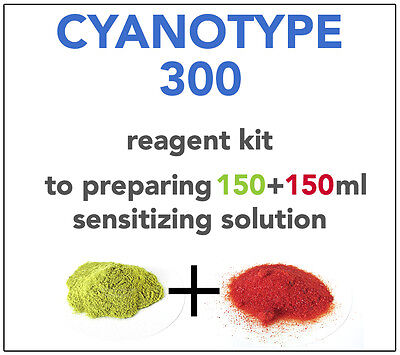 CYANOTYPE REAGENT KIT (for 150+150ml) ALL YOU NEED TO SENSITIZE 75-80 A4 SHEETS