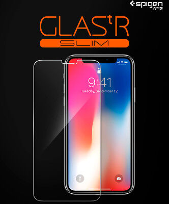 Apple iPhone XS X Screen Protector - Spigen GlasTR Slim TEMPERED GLASS 2 PACK