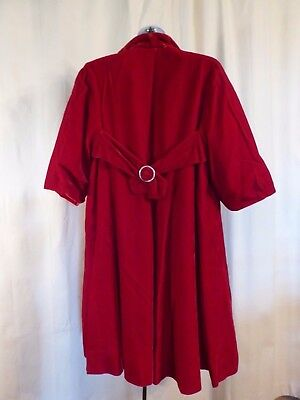 Lilli Diamond 50s 60s Red Velvet Dress Coat