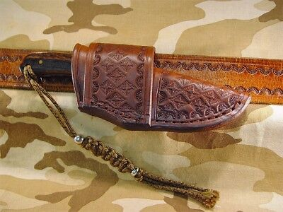 Custom leather sheath only made for Buck 113 Ranger cross draw carry.